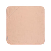 Kinder Kapuzenhandtuch aus Mull - Muslin Hooded Towel, Light Pink