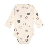 Baby Body Langarm GOTS - Cozy Colors, Circles Offwhite (7 - 24 Monate)