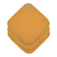Waschlappen aus Mull (3 Stk) - Muslin Washcloth, Mustard