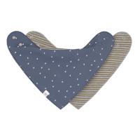 Dreieckstuch Baby (2 Stk) - Bandana, Blue Grey