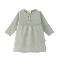 Babykleid - Knitted Dress GOTS, Garden Explorer, Aqua Grey