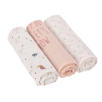 Mulltücher (3 Stk) - Heavenly Soft Swaddle L, Garden Explorer Schnecke