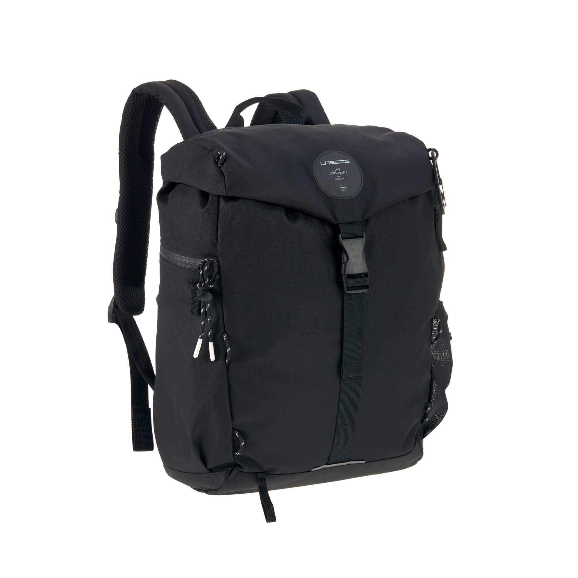 Wickelrucksack Outdoor Backpack, Black