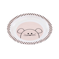 Kinderteller - Plate Melamin, Little Chums Mouse