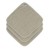 Waschlappen aus Mull (3 Stk) - Muslin Washcloth, Olive