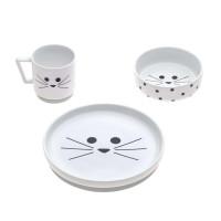 Kindergeschirr Set Porzellan - Dish Set, Little Chums Cat