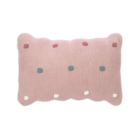 Kissen - Knitted Pillow, Dots Dusky Pink