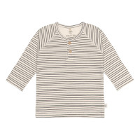 Baby Langarmshirts GOTS - Cozy Colors, Striped Grey