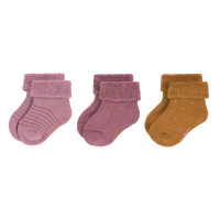 Babysocken (3er-Pack) - Newborn Socks, Rosewood