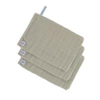 Waschhandschuhe aus Mull (3 Stk) - Muslin Glove, Olive