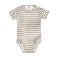 Baby Body Kurzarm GOTS - Cozy Colors, Striped Grey (7 - 24 Monate)