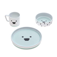 Kindergeschirr Set Porzellan - Dish Set, Little Chums Dog