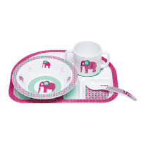 Kindergeschirr Set - Dish Set, Wildlife Elephant