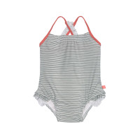 Kinder Badeanzug - Tanksuit, Striped Coral