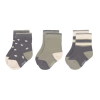Kindersocken (3er-Pack) GOTS - Socks, Anthracite Olive