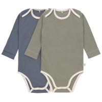 Baby Body (2er Set) Langarm GOTS - Cozy Colors, Blue (7 - 24 Monate)