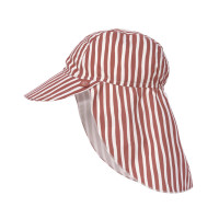 Sonnenhut Kinder - UV Schutz Flap Hat, Stripes Red