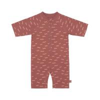 Schwimmanzug Kinder - UV Schutz Sunsuit, Waves Rosewood
