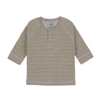 Baby Langarmshirt, Striped Grey Mélange