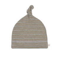 Babymütze - Beanie, Striped Grey Mélange