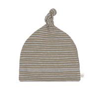 Babymütze - Beanie, Striped Grey Mélange