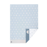 Babydecke - Knitted Blanket GOTS, Lela light blue