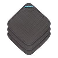 Waschlappen aus Mull (3 Stk) - Muslin Washcloth, Anthracite