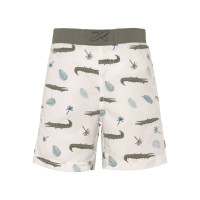 Windelbadehose Kinder - UV Schutz Shorts, Crocodile White