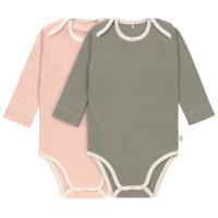 Baby Body (2er Set) Langarm GOTS - Cozy Colors, Powder Pink (7 - 24 Monate)