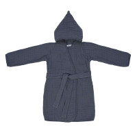 Kinder Bademantel aus Mull - Muslin Bathrobe, Navy