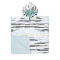 Kinder Badetuch - Beach Poncho, Little Sailor navy