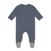 Baby Schlafanzug mit Füßen GOTS - Pyjama Cozy Colors, Triangle Blue