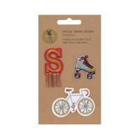 Textil-Sticker (3 Stk) - Schul Set Unique, Fahrrad