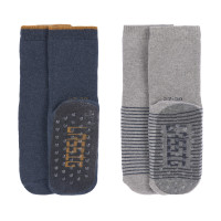 Kinder Antirutsch-Socken (2er-Pack) - Anti-Slip Socks, Blue Grey