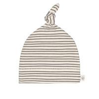 Babymütze GOTS - Beanie Cozy Colors, Striped Grey