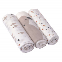 Mulltücher (3 Stk) - Heavenly Soft Swaddle L, Tiny Farmer Speckles