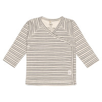Baby Wickelhemd GOTS - Kimono Cozy Colors, Striped Grey