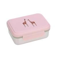 Brotdose Kinder - Edelstahl Lunchbox, Safari Giraffe