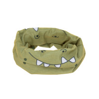 Multifunktionstuch Flexi-Loop Kinder, Crocodile Olive