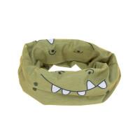 Multifunktionstuch Flexi-Loop Kinder, Crocodile Olive
