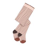 Strumpfhose - Tights GOTS, Tiny Farmer, Striped Orange Beige