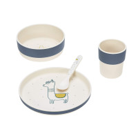 Kindergeschirr Set - Dish Set, Glama Lama Blue