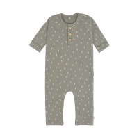 Strampler GOTS - Baby Overall Cozy Colors, Speckles Olive
