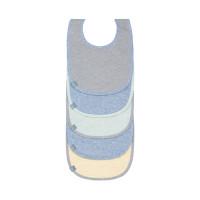 Lätzchen Bib Value Pack 5pcs ass., blue Mélange